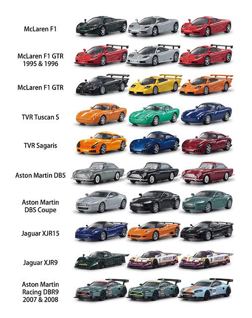 【Kyosho】「ブリティッシュスポーツカー・ミニカーコレクション」30種全国のサークルK・サンクス限定で発売(2)