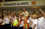 F1   アロンソ、今季初の表彰台を元ボス、ブリアトーレに捧げる
