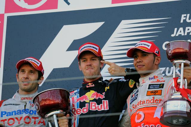 F1日本GP決勝:トヨタが日本GP初表彰台2位、優勝はベッテル(5)