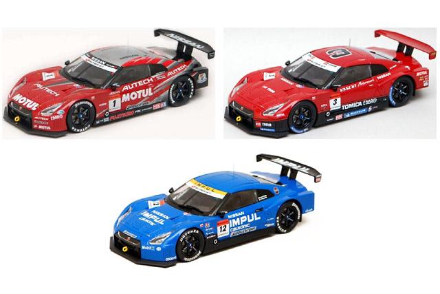 【バリュー・アイズ】Bugzees 1/32スケール SUPER GT公認 2009モデルカー #1 MOTUL AUTECH GT-R、#3 HASEMI TOMICA EBBRO GT-R、#12 IMPUL カルソニック GT-R発売(1)