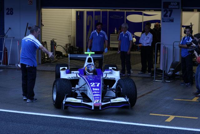 GP2テストにローブが登場。トップから約2秒落ちのタイム(3)