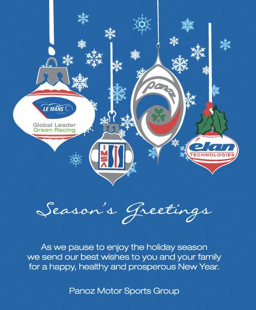 パノス・レーシンググループからのクリスマスカード