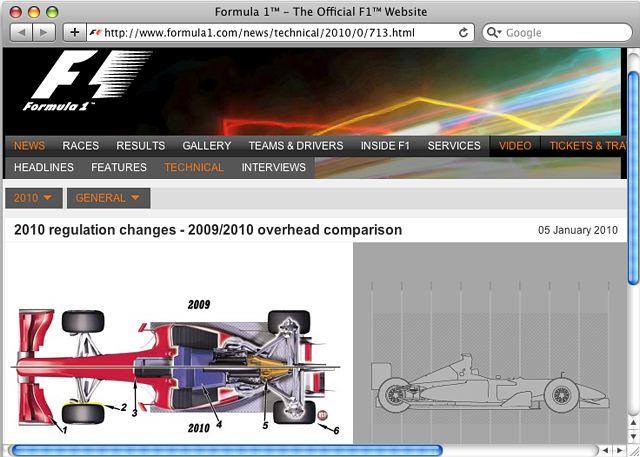2010年のF1マシンはこう変わる(1) オーバービュー編(1)