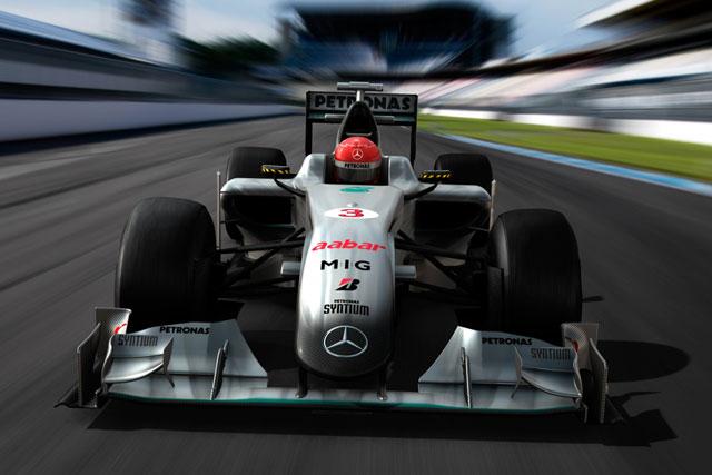 メルセデスGP、マシンカラーリングとドライバーのスーツを披露(1)
