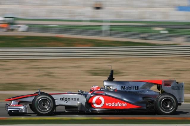 F1バレンシアテスト初日