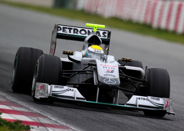 バルセロナ合同テスト3日目、最速はメルセデスのロズベルグ(1)