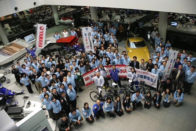 【ヤマハ発動機】「障害者100人による日本縦断駅伝」の一行がヤマハ発動機本社を訪問(1)