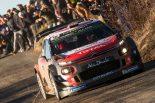 WRC第1戦モンテカルロのSS17で最速タイムを記録したクリス・ミーク(シトロエンC3 WRC)
