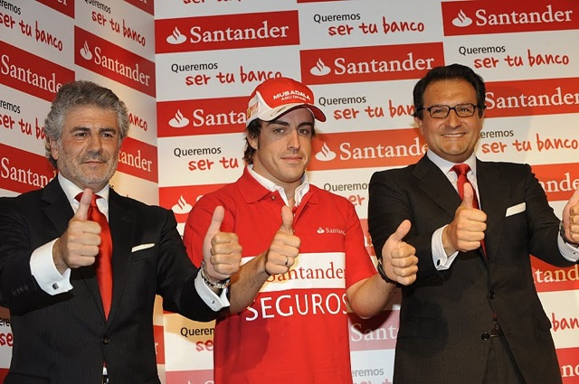 アロンソの親指に1000万ユーロの保険、サンタンデールがプレゼント(1)