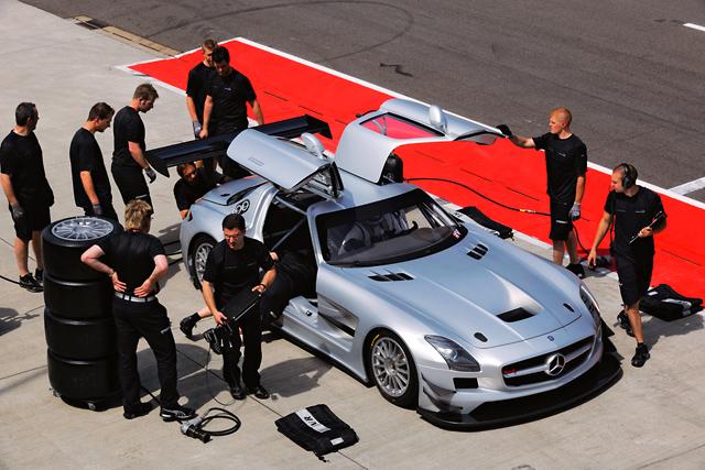 メルセデスSLS AMG GT3が実走テストを開始(5)