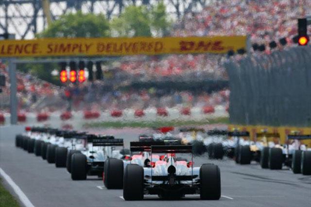 2010年カナダGPスタート