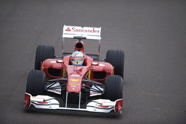 フェラーリ、F150をシェイクダウン。アロンソが走行(3)