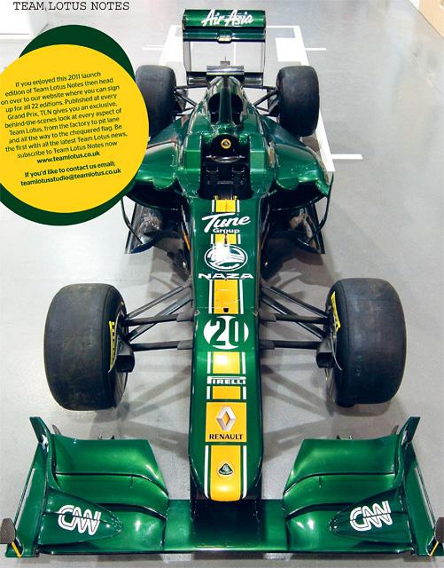 チーム・ロータス、オンラインマガジンで「TL11」を発表(4)