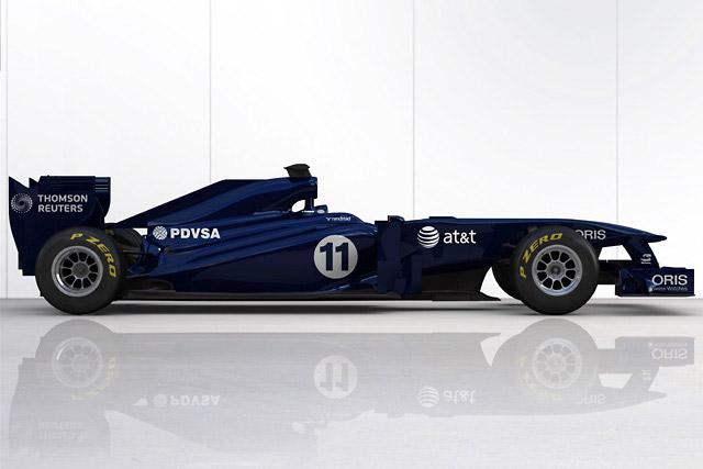ウイリアムズ、暫定カラーの新車「FW33」を披露(1)