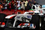 F1   ペレスがメキシコでデモラン。マシンには「NEC」が登場