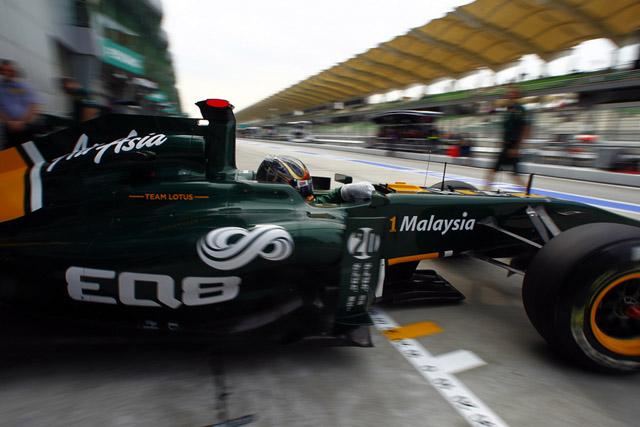 ロータス、中国のFP1でレースドライバーを走らせず(1)