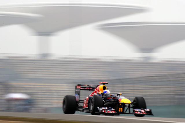 中国GP初日はベッテル最速。ハイドフェルドはミス連発(1)