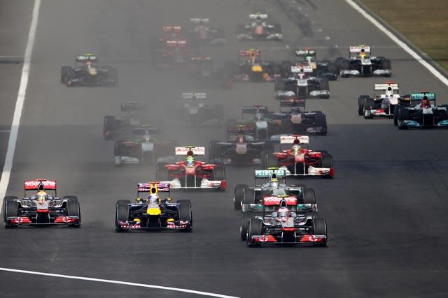 F1第3戦中国GP決勝 スタートシーン