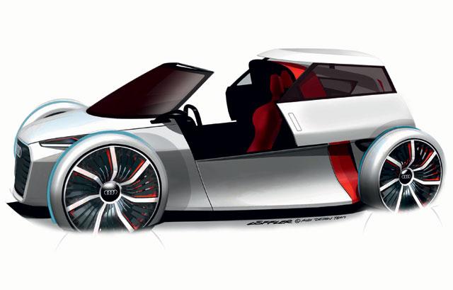 アウディ、1+1のアーバンコンセプトカーを発表(1)