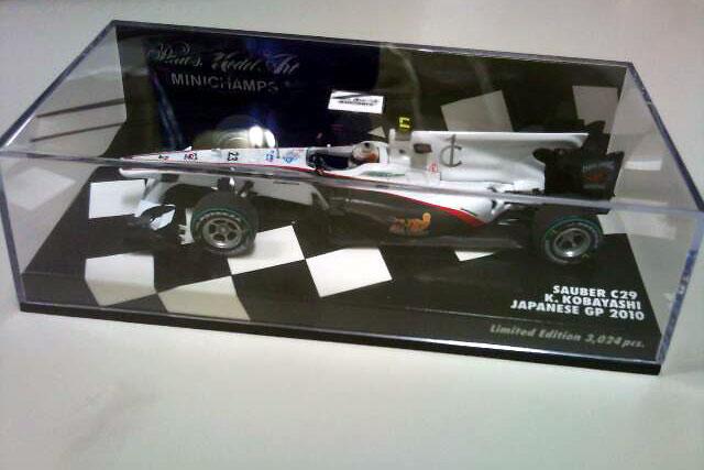 日本GPの可夢偉サイン入りミニカーをプレゼント(1)