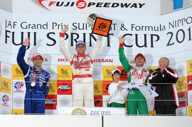 JAF GP:緊迫のGT-R対決を制しロニー優勝。寿一3位(1)