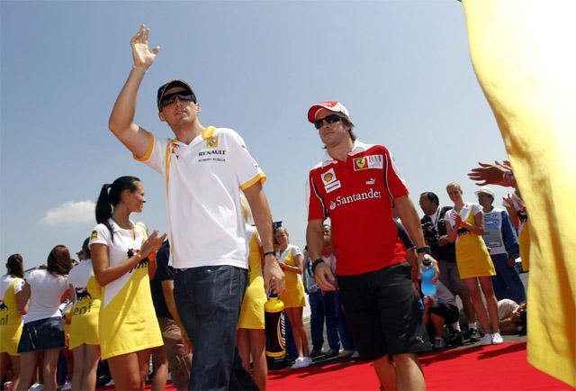 2010年ハンガリーGP ロバート・クビカ&フェルナンド・アロンソ