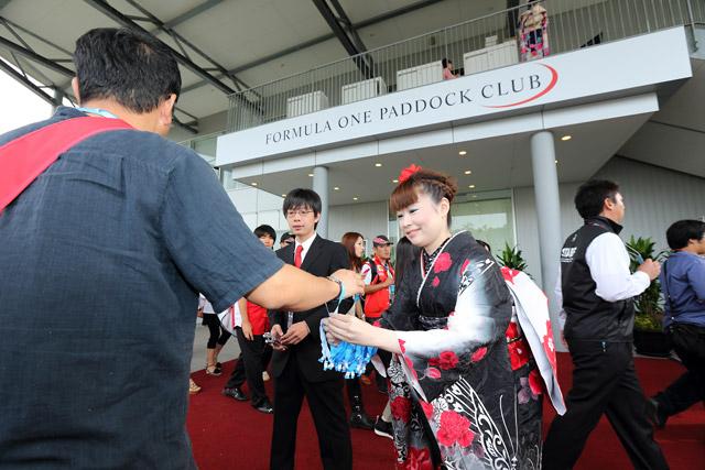 F1日本GP開幕。パドッククラブも盛況(3)