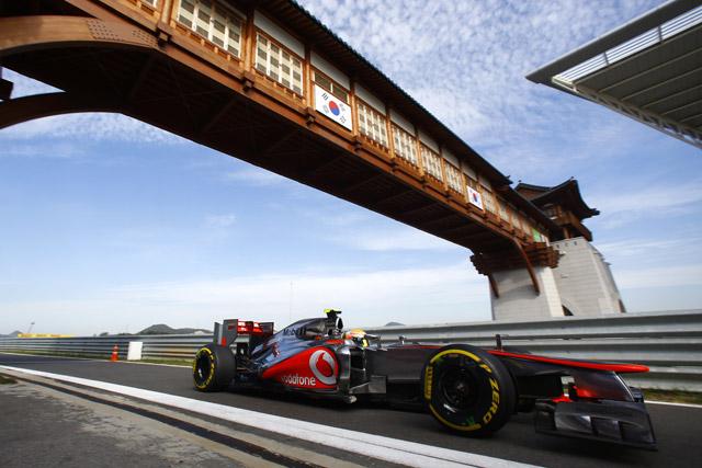 韓国GP開幕。ハミルトンがFP1最速。可夢偉14番手(1)
