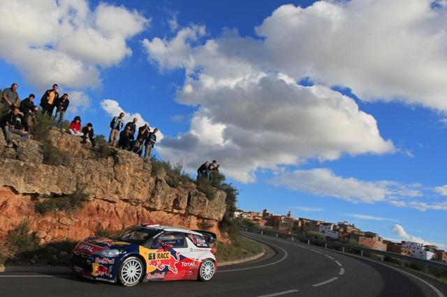 WRCスペイン:ローブがデイ2トップに(1)