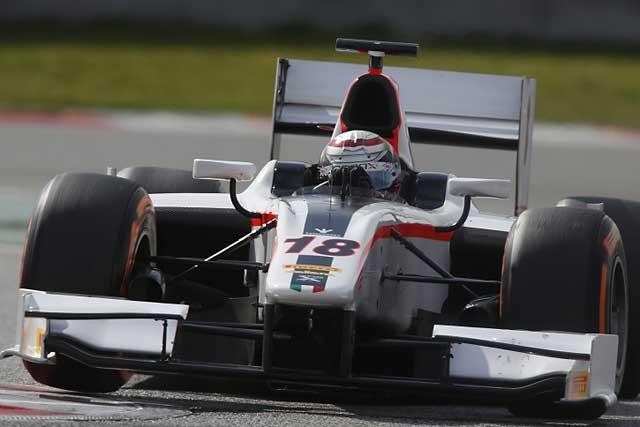 GP2バルセロナテストは、コレッティがトップタイム(1)
