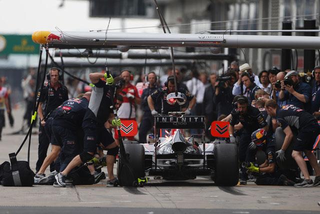 2013年ドイツGP レッドブル・レーシング ピットストップ