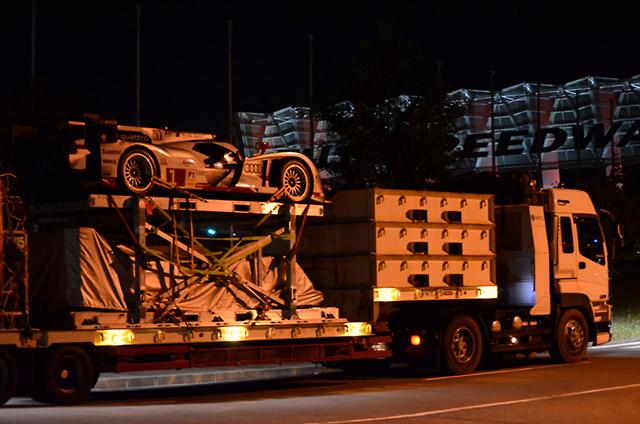 WEC第6戦参戦車両が富士スピードウェイ入り(1)