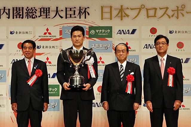 日本プロスポーツ大賞で琢磨、山本、平川が表彰(5)