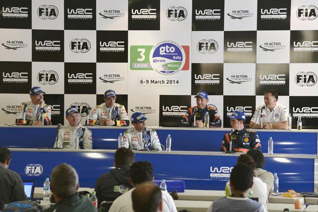 WRCメキシコ:ポスト会見「先頭走行は怖くない」(1)