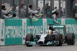 F1 | ハミルトン圧勝。可夢偉は粘りの走りで13位完走