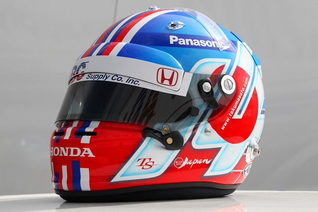 琢磨、インディ500でスペシャルヘルメットを装着(1)