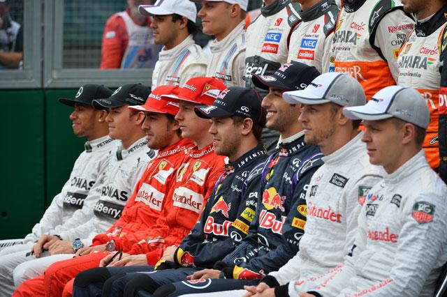 2014年オーストラリアGP ドライバー集合写真