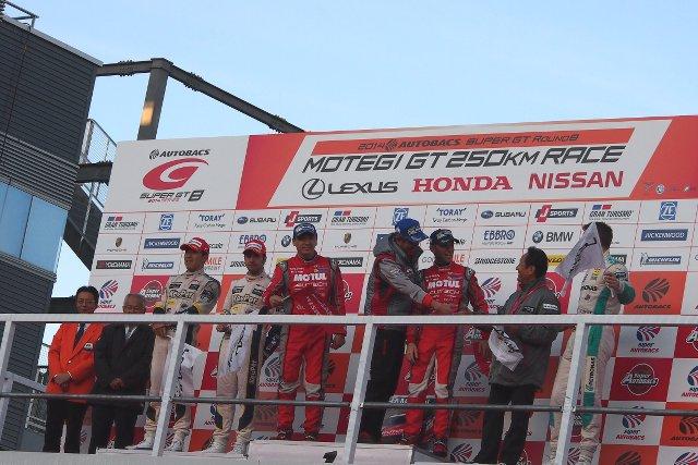 GT500クラスシリーズ表彰式