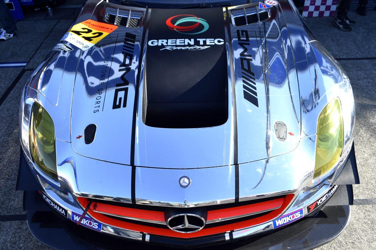 SGT最終戦 ボンネットギャラリー グリーンテック SLS AMG GT3