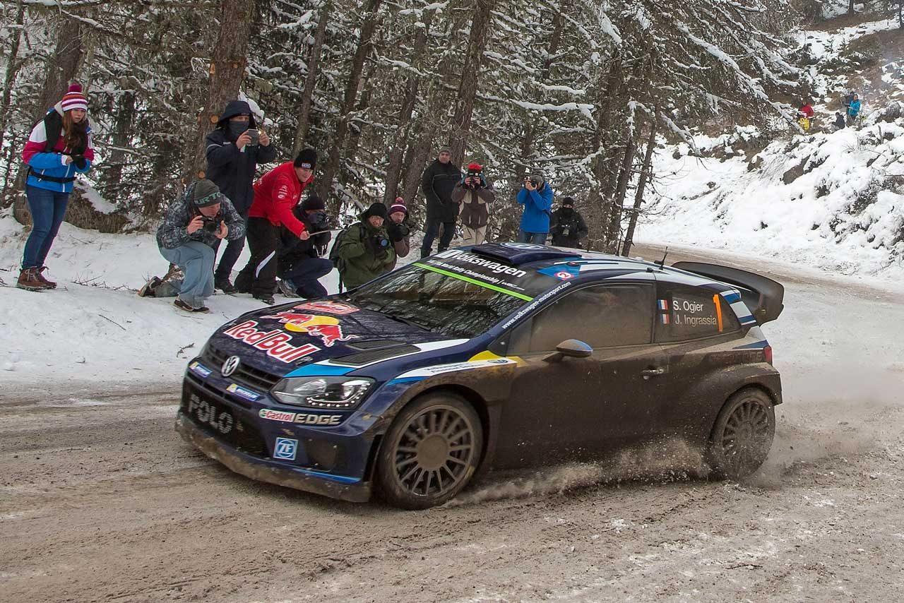 WRCモンテ2日目:ローブ後退、VWがトップ3独占(1)