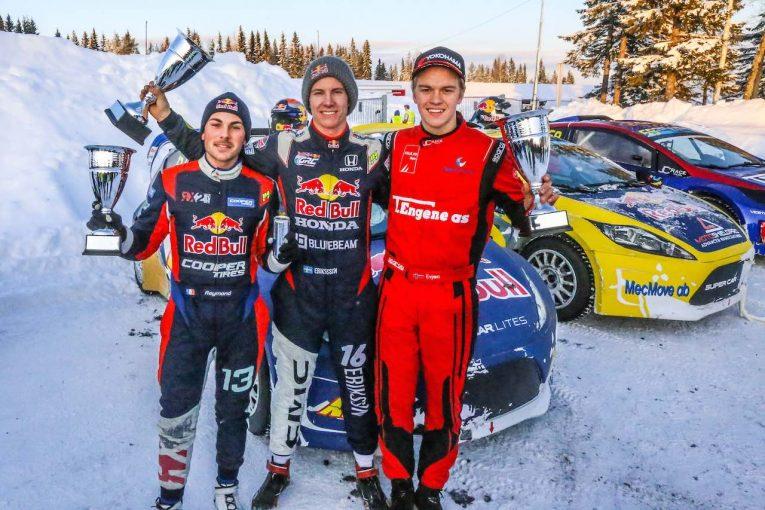 ラリー/WRC   RallyX on ICE開幕戦、GRCホンダ・ワークスのオリバー・エリクソンが初勝利