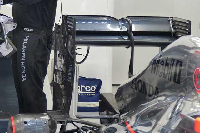 メカUPDATE:マクラーレンの新リヤウイング(1)