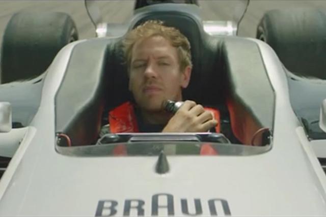 【動画】ベッテル、世界最速シェーバーで危機回避!(1)