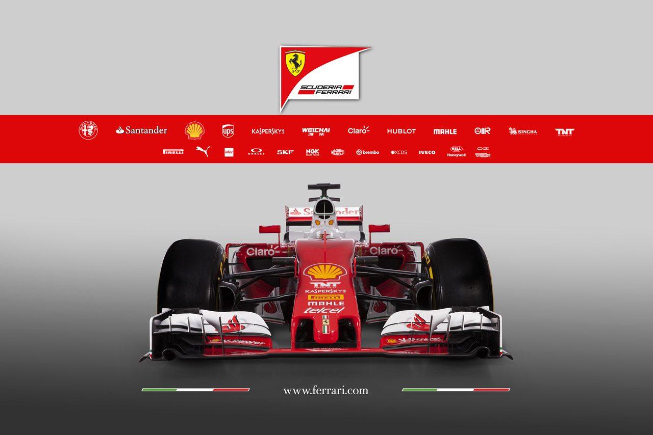 フェラーリ、レトロカラーの新車『SF16-H』を初公開(2)