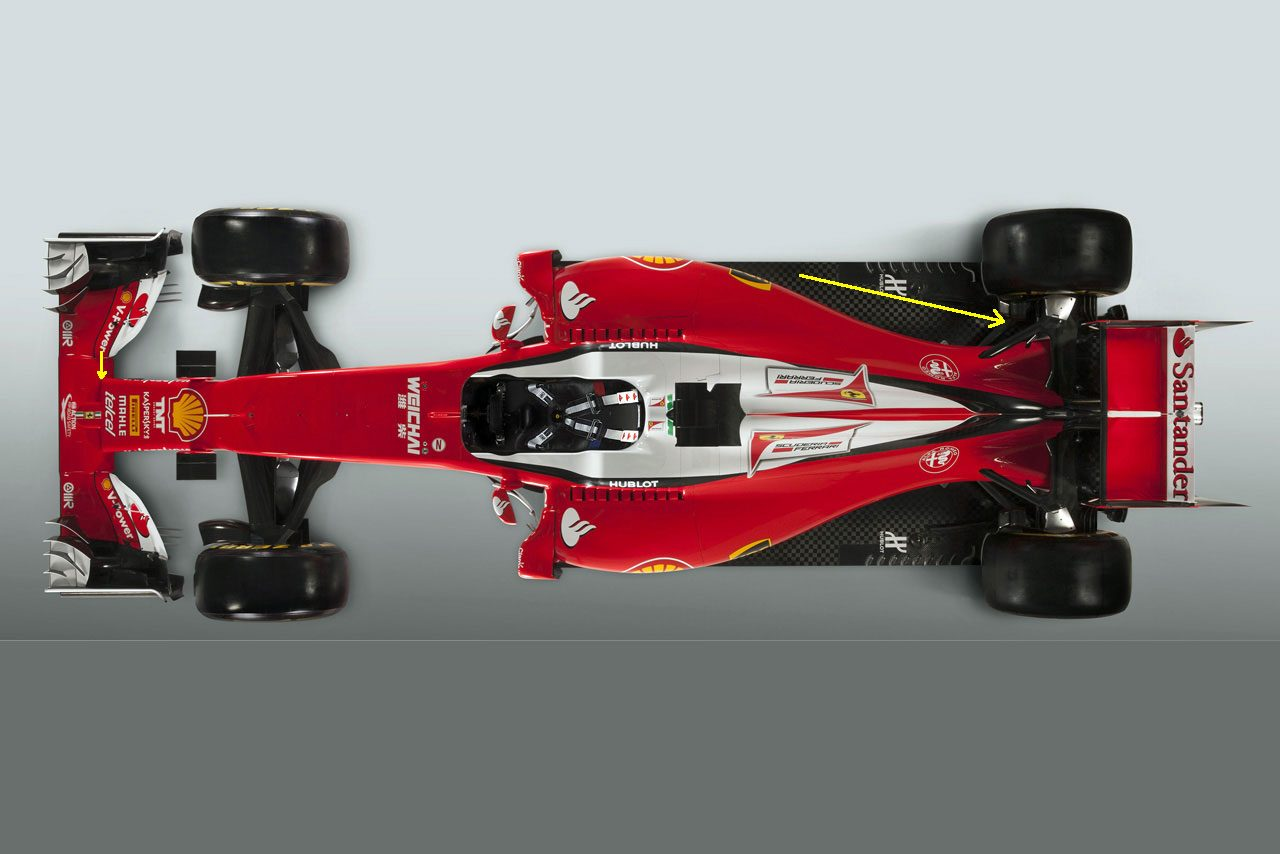 新車分析/フェラーリSF16-H:リヤの絞り込みに勝算はあるか(3)