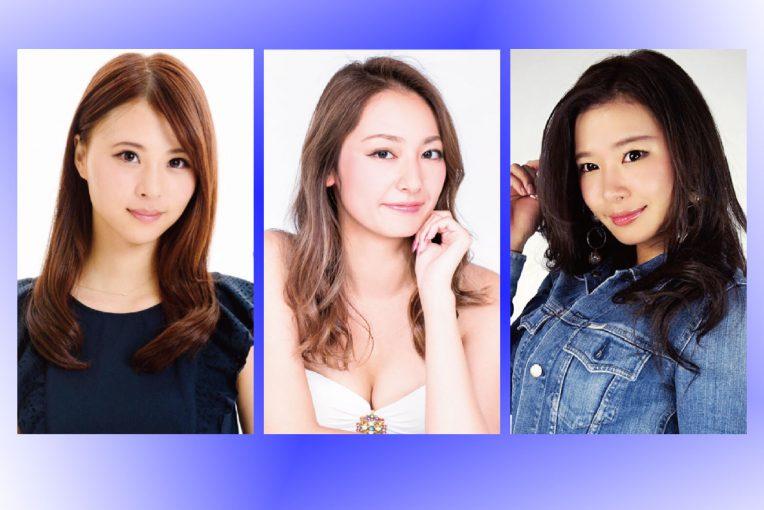 2018年、『WedsSport Racing Gals』を務める山本成美さん(左)、近藤みやびさん(中央)、小山桃さん(右)