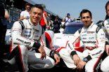 ブルーノ・セナとともに1号車レベリオンR13を駆るアンドレ・ロッテラー(左)とニール・ジャニ(右)