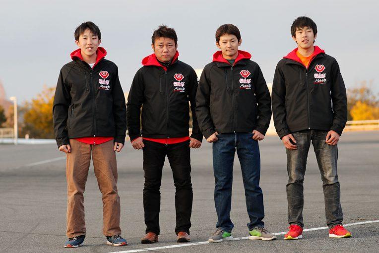 2018年、au・テルルMotoUPレーシングとして参戦する4名のライダー