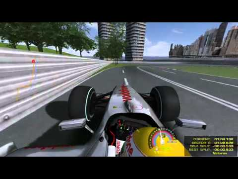 ベッテル、ニュージャージーGPのコースを走る