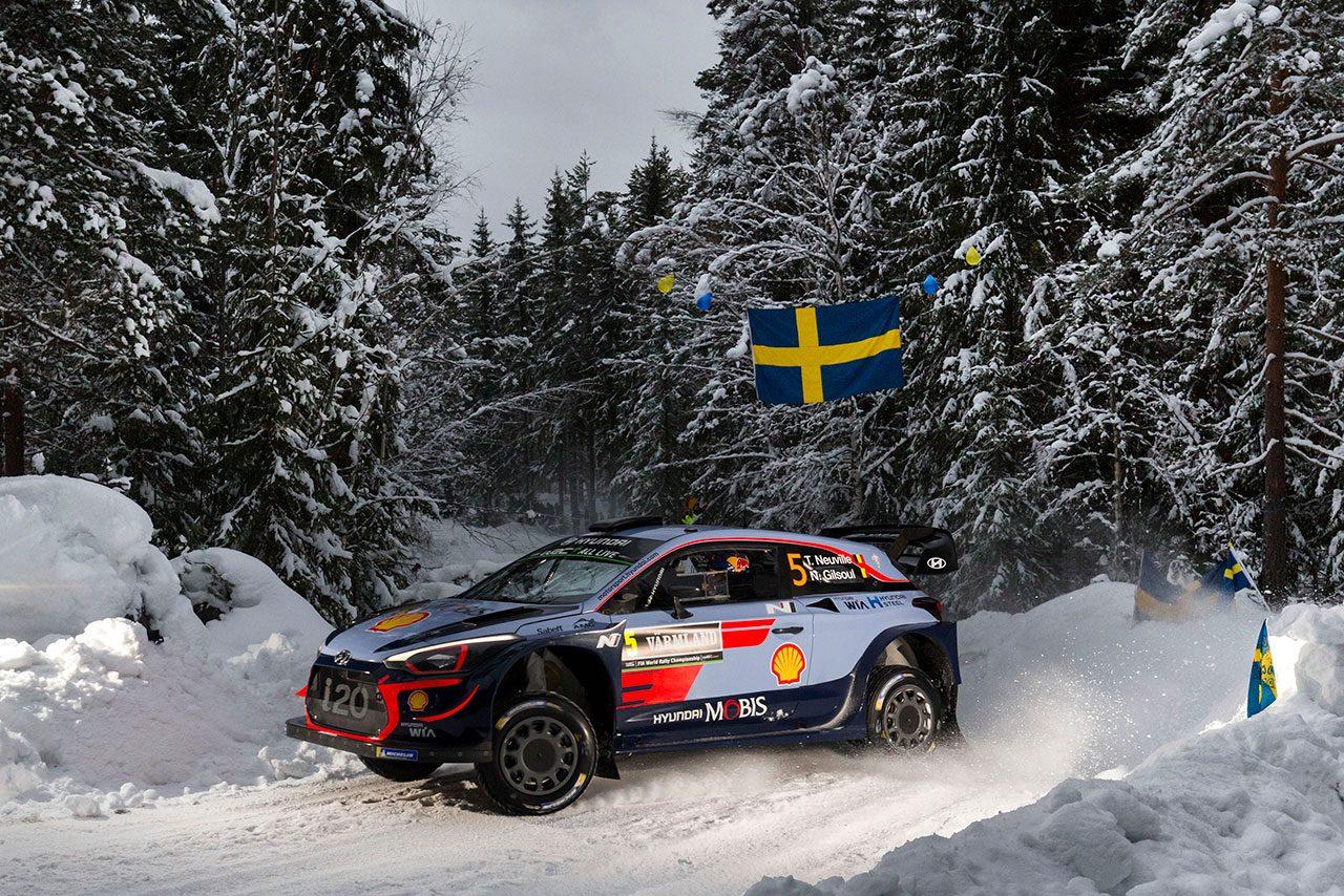 WRC:ラリー・スウェーデンのシェイクダウンはヒュンダイ最速。トヨタは5番手